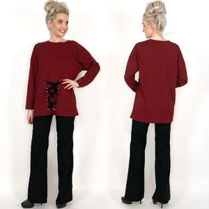 Burgundy Red Oversized Sweater Very J